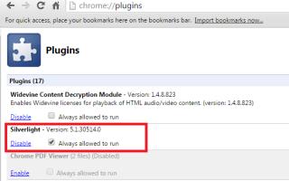 Silverlight не работает в Chrome: решение проблемы с плагинами NPAPI и разрешениями на сайтах
