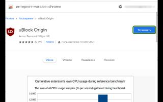 uBlock Origin для Google Chrome