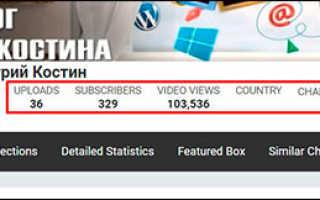 Как посмотреть статистику чужого канала youtube разными способами