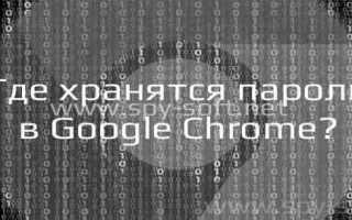 Как посмотреть сохранённые пароли в браузере Google Chrome (Хром)