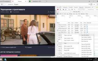 Как узнать ссылку на видео поток в Google Chrome