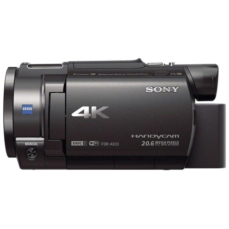 Sony FDR-AX33 вид сбоку